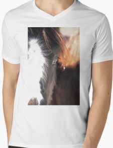 Winter Filly Mens V-Neck T-Shirt