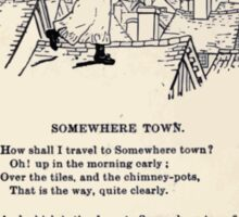 Miniature Under the Window Pictures & Rhymes for Children Kate Greenaway 1880 0015 Somewhere Town Sticker