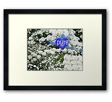 Blessed Blooms in Wonderful White Framed Print