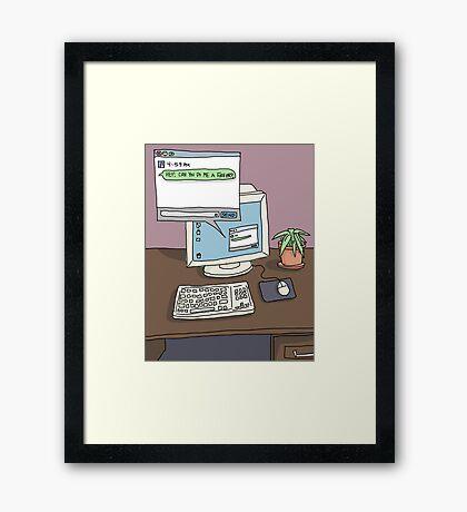 Workspace Aesthetic Framed Print