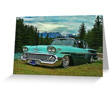 Classic Chevrolet in Banff Greeting Card