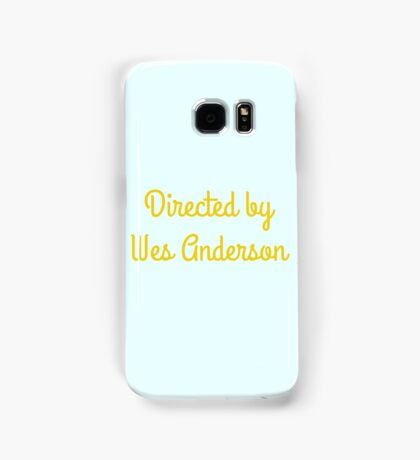 Directed By Wes Anderson (blue and yellow) Samsung Galaxy Case/Skin