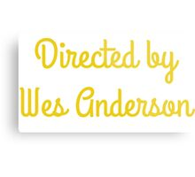 Directed By Wes Anderson (blue and yellow) Metal Print