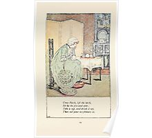 Mother Goose or the Old Nursery Rhymes by Kate Greenaway 1881 0023 Cross Patch Lift Latch Poster