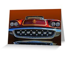 1958 Ford Thunderbird front view abstract Greeting Card