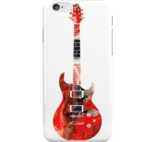 Electric Guitar - Colorful Abstract Musical Instrument by Sharon Cummings iPhone Case/Skin