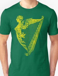 Irish Harp Heraldry - Gold Weathered T-Shirt