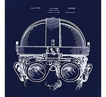 Vintage Welders Goggles blueprint drawing Photographic Print