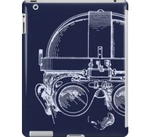 Vintage Welders Goggles blueprint drawing iPad Case/Skin