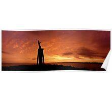 Spirit of the Sea Statue on sunrise - Devonport Poster