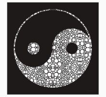 Perfect Balance 2 - Yin and Yang Stone Rock'd Art by Sharon Cummings One Piece - Short Sleeve