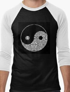 Perfect Balance 2 - Yin and Yang Stone Rock'd Art by Sharon Cummings Men's Baseball ¾ T-Shirt