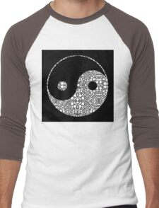 Perfect Balance 2 - Yin and Yang Stone Rock'd Art by Sharon Cummings Men's Baseball ¾ T-Shirt