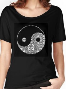 Perfect Balance 2 - Yin and Yang Stone Rock'd Art by Sharon Cummings Women's Relaxed Fit T-Shirt