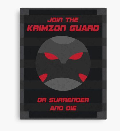 Krimzon Guard Propaganda Canvas Print