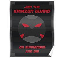Krimzon Guard Propaganda Poster