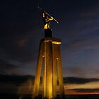 Spirit of the Sea Statue on first light - Devonport by Cody Williams