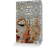Marilyn Monroe - Sigh - Stone Rock'd Art By Sharon Cummings Greeting Card