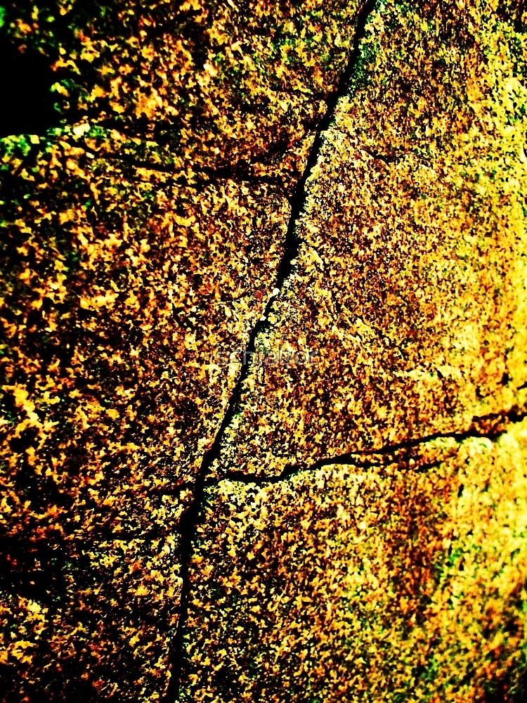 Golden Texture Abstract by schiabor