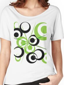 Abstract green circles Women's Relaxed Fit T-Shirt
