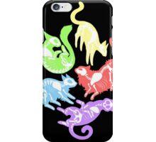 Creepy Kitties in Color iPhone Case/Skin