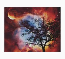 Night Sky Landscape Art By Sharon Cummings Kids Tee