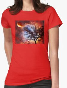 Night Sky Landscape Art By Sharon Cummings Womens Fitted T-Shirt