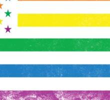 AMERICA RAINBOW FLAG Sticker