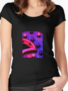 Neon Light Abstract Women's Fitted Scoop T-Shirt