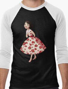Girl of Main Street Men's Baseball ¾ T-Shirt