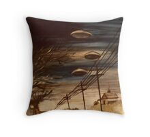 Interstellar Visitors In A Country Town Overdrive Throw Pillow