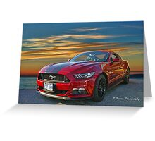 Great looking new Mustang Greeting Card