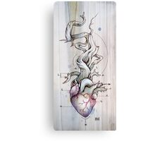 Driftwood Heart 02 Canvas Print