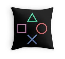 Playstation Buttons Formation Throw Pillow