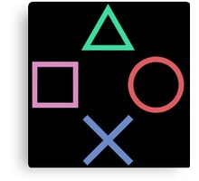 Playstation Buttons Formation Canvas Print