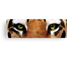 Tiger Art - Hungry Eyes Canvas Print