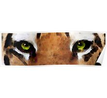 Tiger Art - Hungry Eyes Poster
