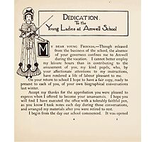 Mrs Leicester's School Charles & Mary Lamb with Minifred Green 18xx 0017 Dedication Photographic Print