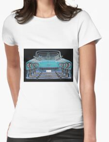 Multiple Blue Chevy Belair Abstract Womens Fitted T-Shirt