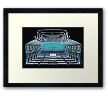 Multiple Blue Chevy Belair Abstract Framed Print