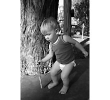 Candid Young Man.. Photographic Print