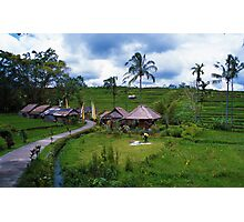 Balinese Village Photographic Print