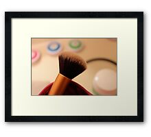 Makeup Brush Framed Print
