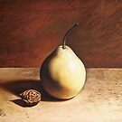 Pear and peach seed by Elena Kolotusha