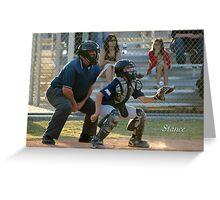 Stance Greeting Card