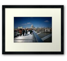 London - St Paul's & Millennium Bridge Framed Print