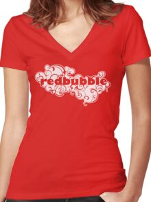 redbubble Women's Fitted V-Neck T-Shirt