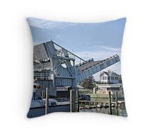 Tilghman Island Drawbridge Throw Pillow