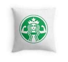 Sbucks Workout  Throw Pillow