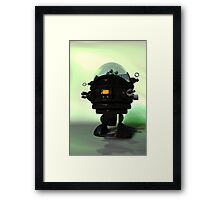 Cute Toy Planet Robot Framed Print